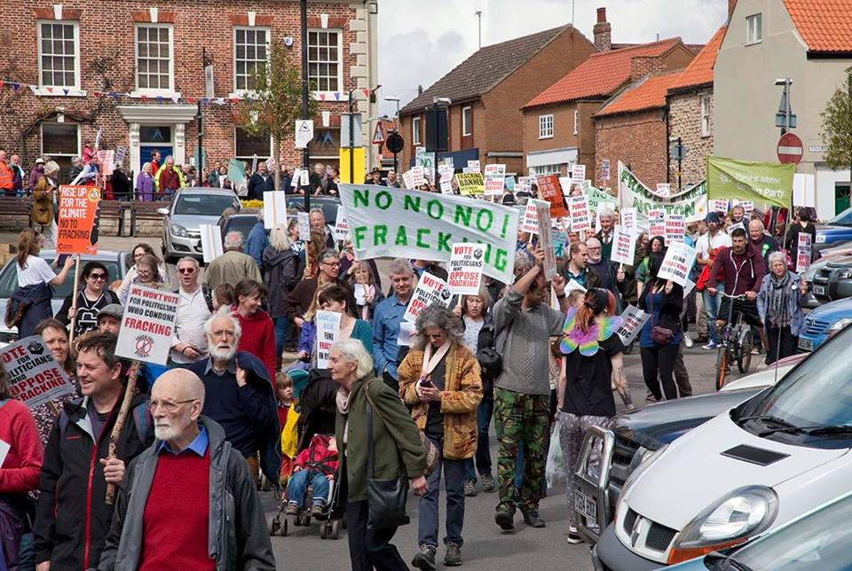 March against fracking Pickering