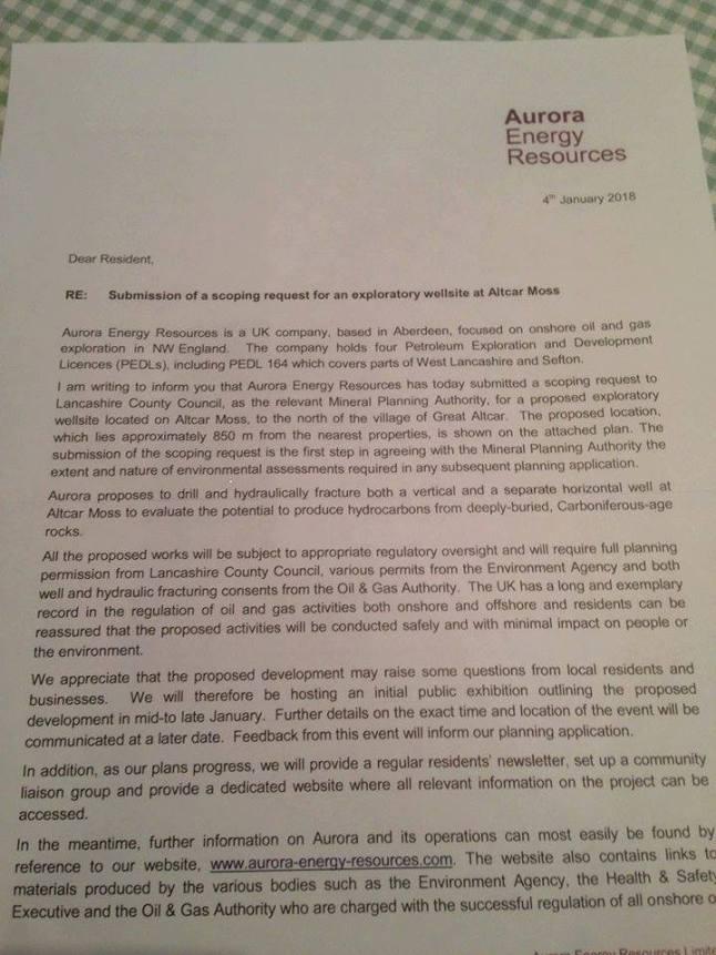 180104 Aurora Energy Resources letter 1