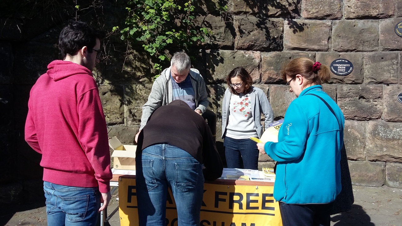 Ellesmere Port petition collection Frack Free Dee.JPG