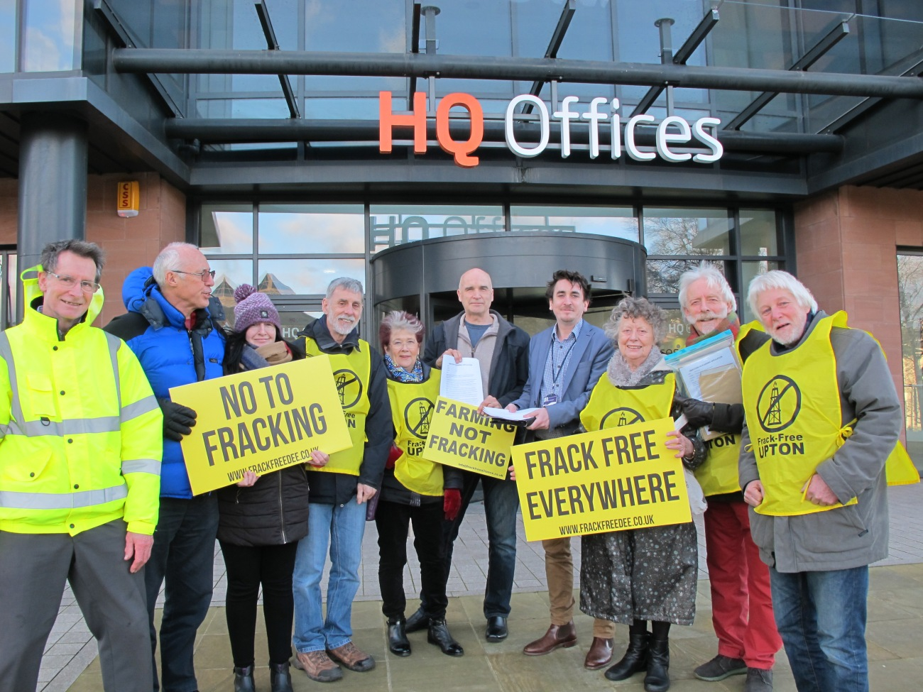 Ellesmere Port petition hand-in Frack Free Dee