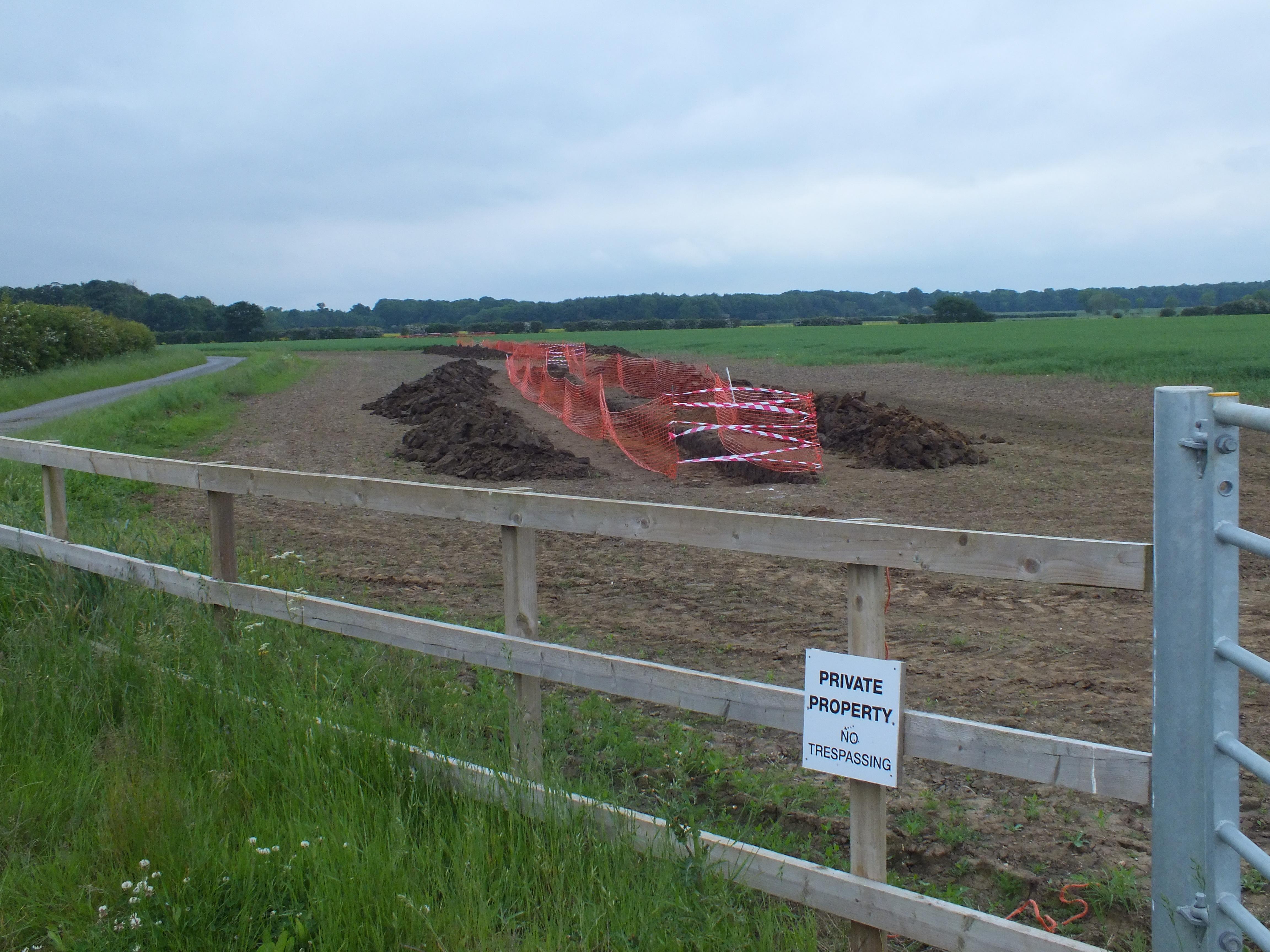 West Newton B trenching 1