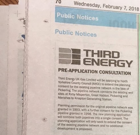 170207 Third Energy pipeline announcement