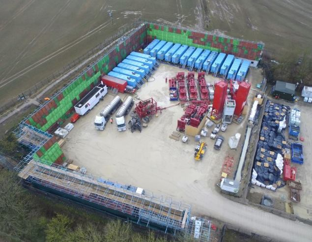 Third Energy fracking site at Kirby Misperton, 20 February 2018. Photo: Eddie Thornton