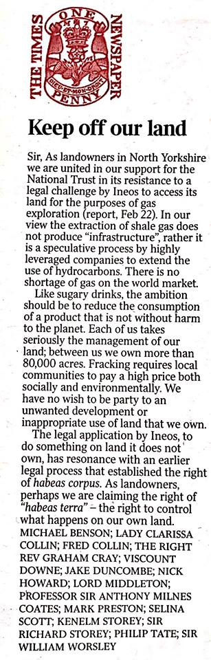 180223 LETTER TO THE TIMES RE INEOS