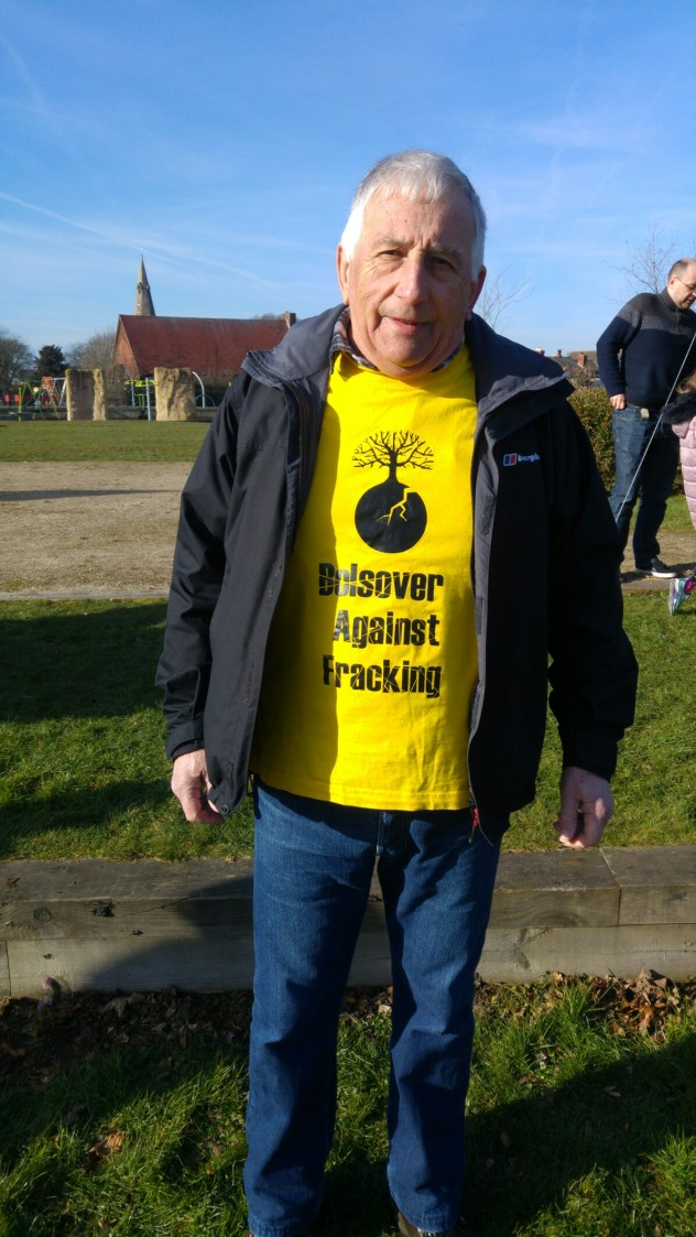Keith Atkin, Bolsover Against Fracking, 24 February 2018. Photo: DrillOrDrop