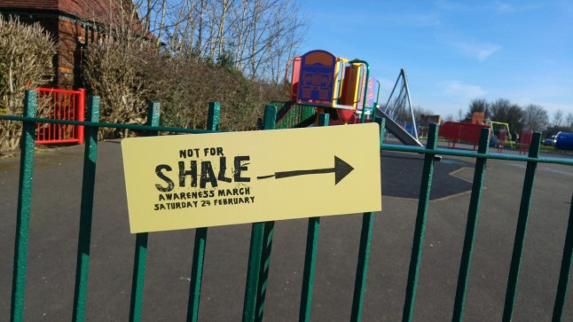 Not for Shale march, Bolsover, 24 February 2018. Photo: DrilllOrDrop