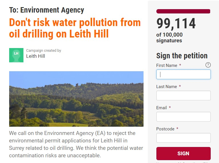 180227 petition to EA on Leith Hill drilling