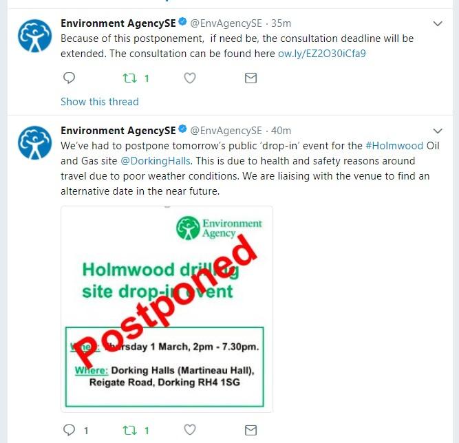 180228 EA Dorking cancellation