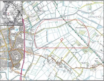 Location of proposed drilling and fracking site