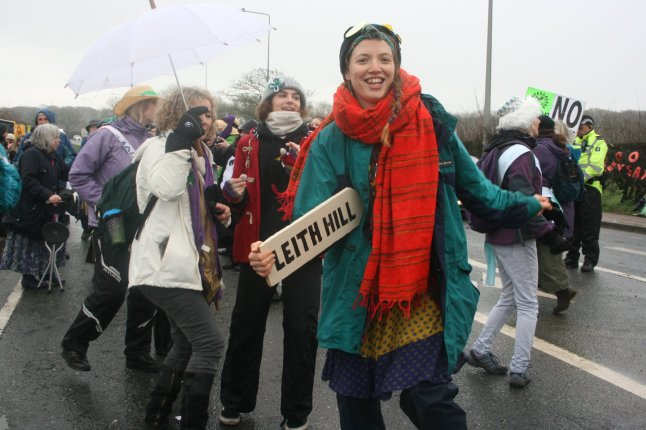 100 Women March at Preston New Road near Blackpool, 3 April 2018. Photo: Dan Harvey