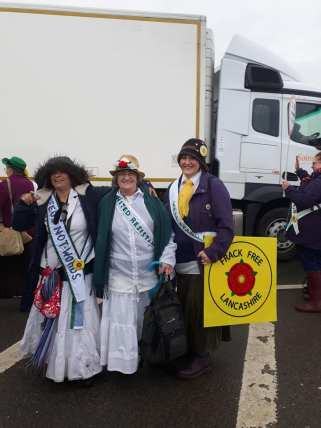 The 100 Women March to Cuadrilla's shale gas site near Blackpool, 3 April 2018. Photo: Gillian Kavanagh