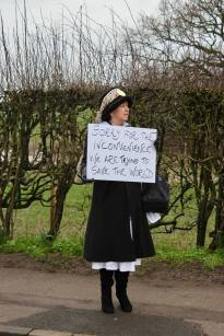 The 100 Women March to Cuadrilla's shale gas site near Blackpool, 3 April 2018. Photo: Refracktion