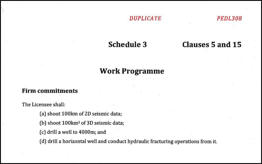 PEDL308 workprogramme