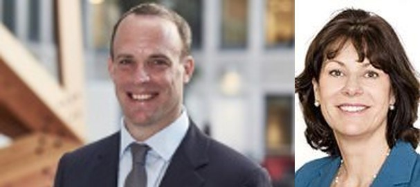 Dominic Raab and Claire Perry