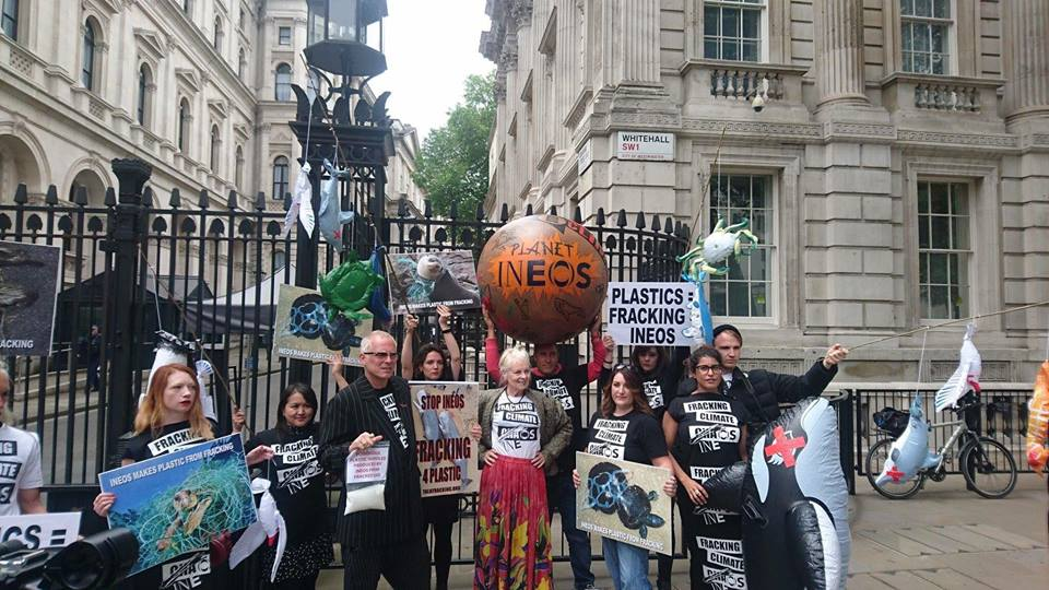 180605 Downing Street Ineos plastics Talk Fracking 1