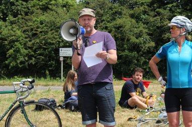 Tour de Frack protest at Horse Hill, Surrey. Photo: Jon O'Houston