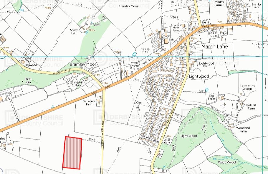 Location map for Bramleymoor Lane2