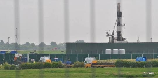 Cuadrilla's shale gas site at Preston New Road, 31 May 2018. Photo: Ros Wills