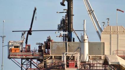 Cuadrilla's shale gas site at Preston New Road near Blackpool, 19 June 0218. Photo: Ros Wills