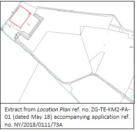 """Third Enegry """"red line boundary"""" plan of Kirby Misperton2 sites not showing connection to the road"""