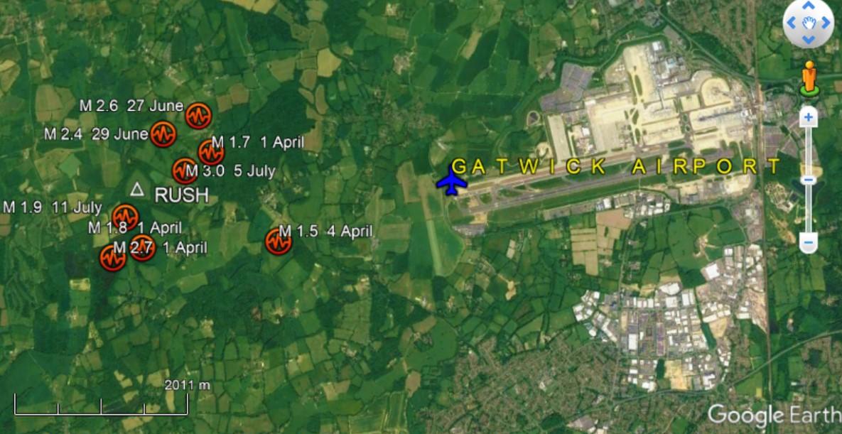 180713 earthquake map rush and airport