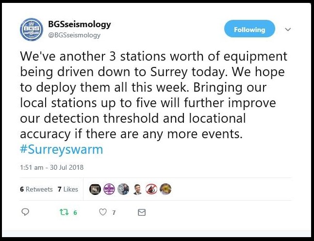 180730 BGS seismic monitors in Surrey