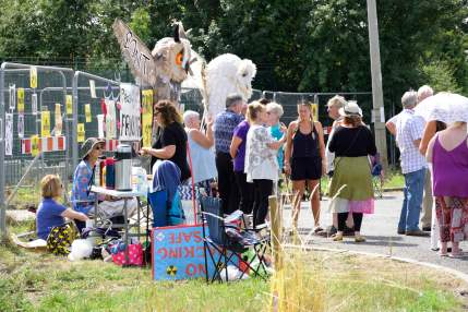 Owl day event opposing fracking at the Springs Road, Misson site. Photo: Frack Free Misson, 4 August 2018