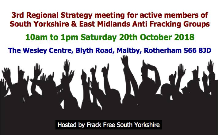 181020 third anti fracking regional strategy meeting for S Yorkshire