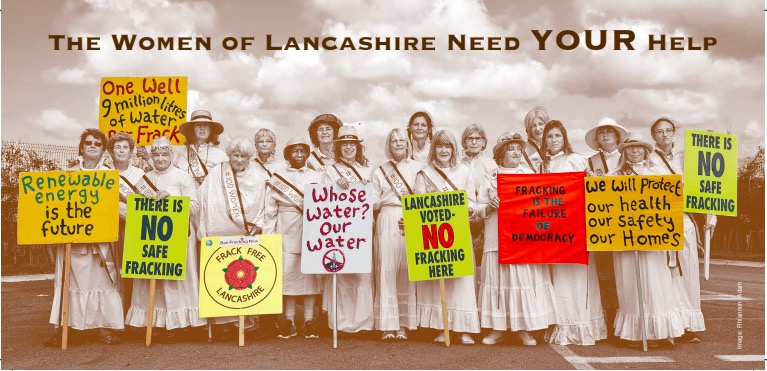 180912Lancashire Suffragettes Against Fracking