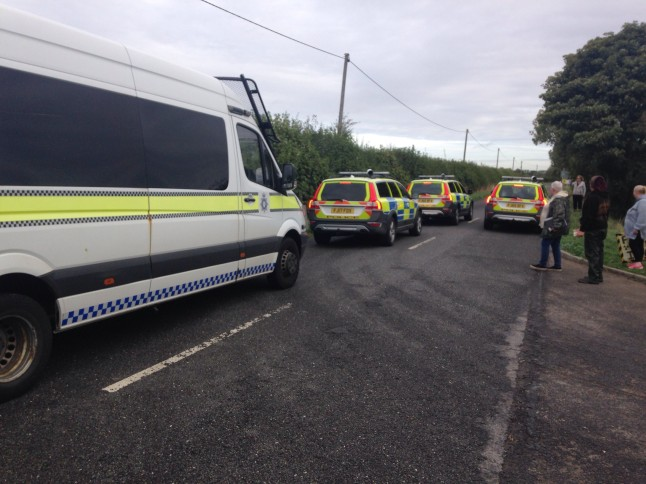 Delivery of equipment to the IGas shale gas exploration site at Springs Road, Misson, in Nottinghamshire, 20 September 2018. Photo: Frack Free Tinker Lane