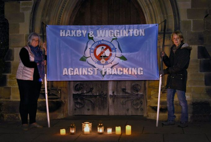 Haxby and Wigginton Against Fracking candle-lit vigil, 26 September 2018. Photo: Dave Marris
