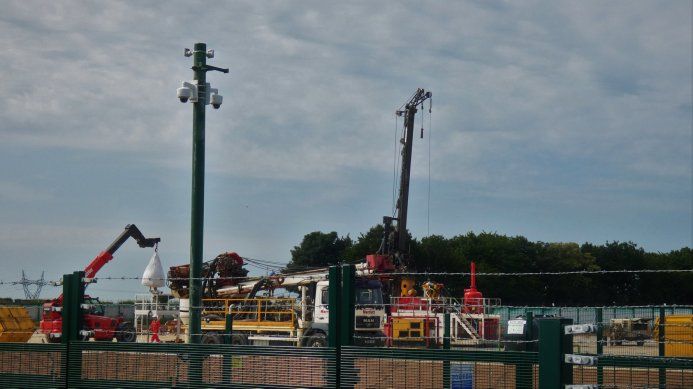 Conductor rig at Tinker Lane, near Blyth, Notttinghamshire. Photo: IGas