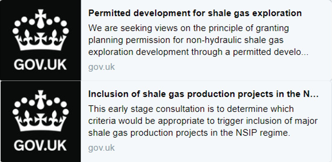 shale gas consultations