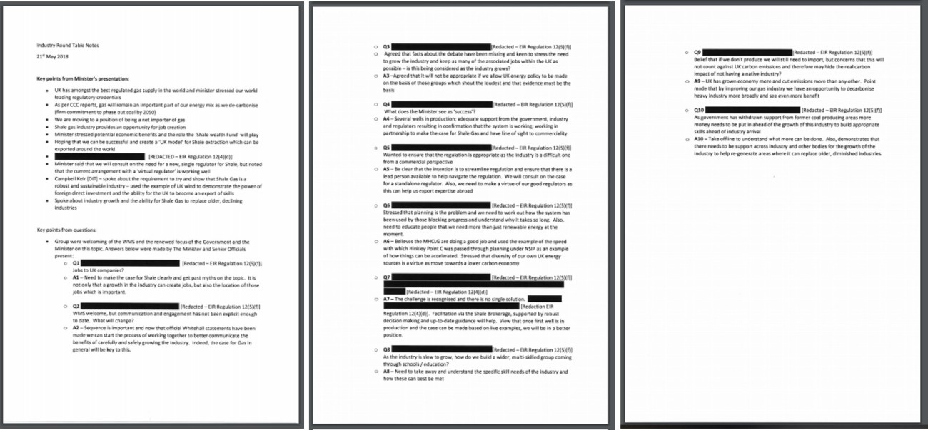 180521 less redacted notes of shale industry round table