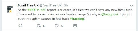 181008 IPCC Fossil Free UK