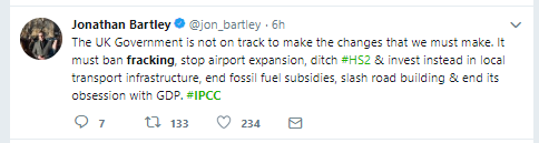 181008 IPCC Jonathan Bartley tweet