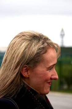 Rebecca Long-Bailey visits anti-fracking campaigners at Preston New Road, 8 October 2018. Photo: Refracktion