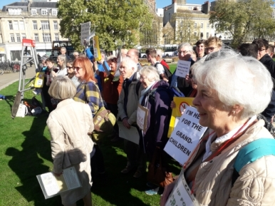 Protest by Grandparents for a Safe Environment, Bristol, 9 October 2018. Photo: Grandparents for a Safe Environment