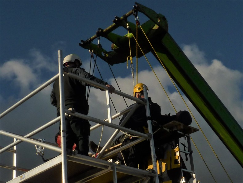 Removal of protester from van roof outside Cuadrilla's shale gas site on the day fracking began, 15 October 2018. Photo: DrillOrDrop
