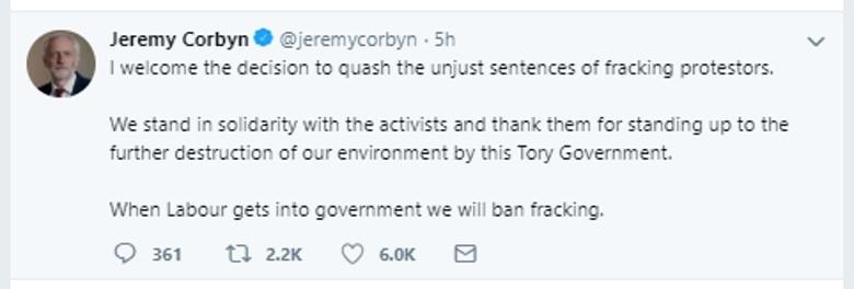 181017 Jeremy Corbyn tweet