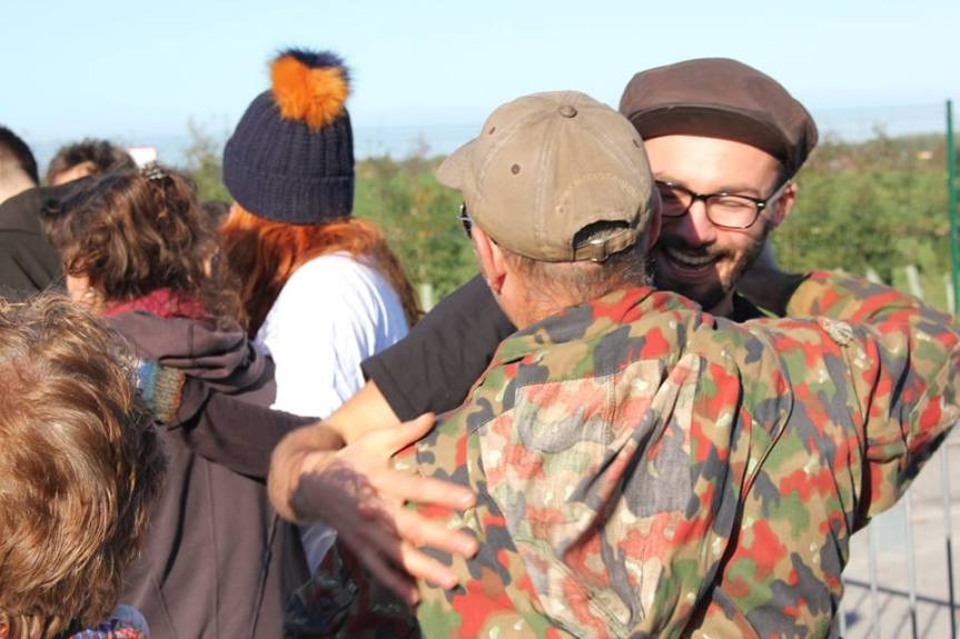 Released anti-fracking campaigners return to Preston New Road, 18 October 2018. Photo: Refracktion.com