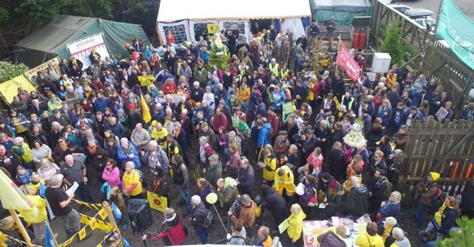 National Climate Rally, near Cuadrilla site at Preston New Road, 20 October 2018. Photo: Eddie Thornton