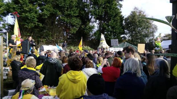 National Climate Rally, near Cuadrilla site at Preston New Road, 20 October 2018. Photo: Katrina Lawrie