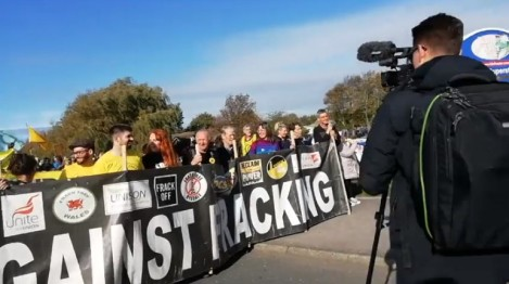National Climate Rally, near Cuadrilla site at Preston New Road, 20 October 2018. Photo: Tina Rothery