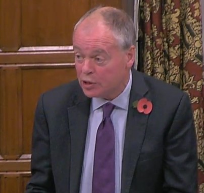 Clive Betts MP, 31 October 2018. Photo: Parliamentlive.tv