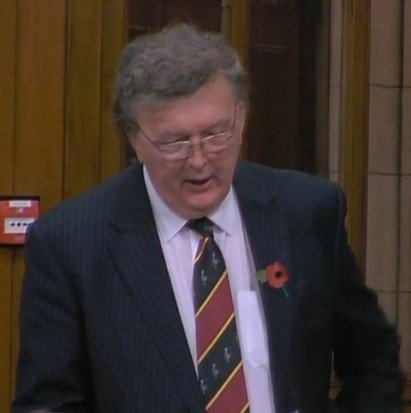 Sir Greg Knight MP, 31 October 2018. Photo: Parliamentlive.tv