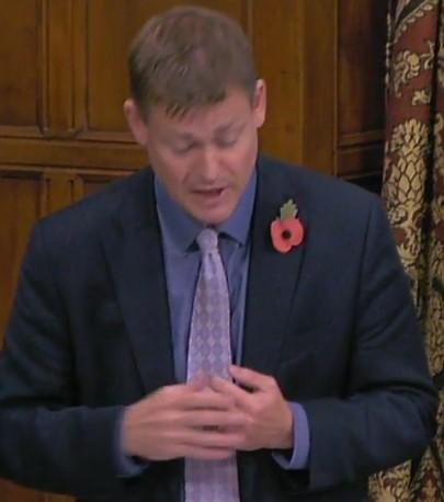 Justin Madders MP, 31 October 2018. Photo: Parliamentlive.tv