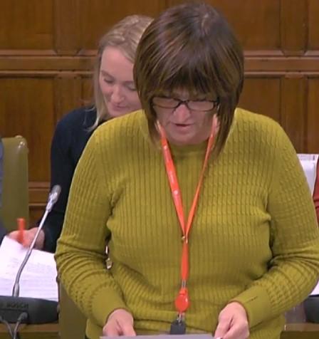 Karen Lee MP, 31 October 2018. Photo: Parliamentlive.tv
