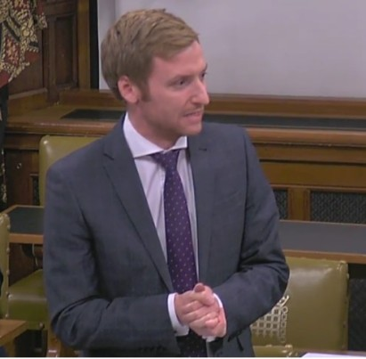 Lee Rowley MP, 31 October 2018. Photo: Parliamentlive.tv