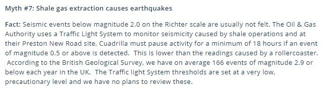 October 2018 Myth buster on earthquakes